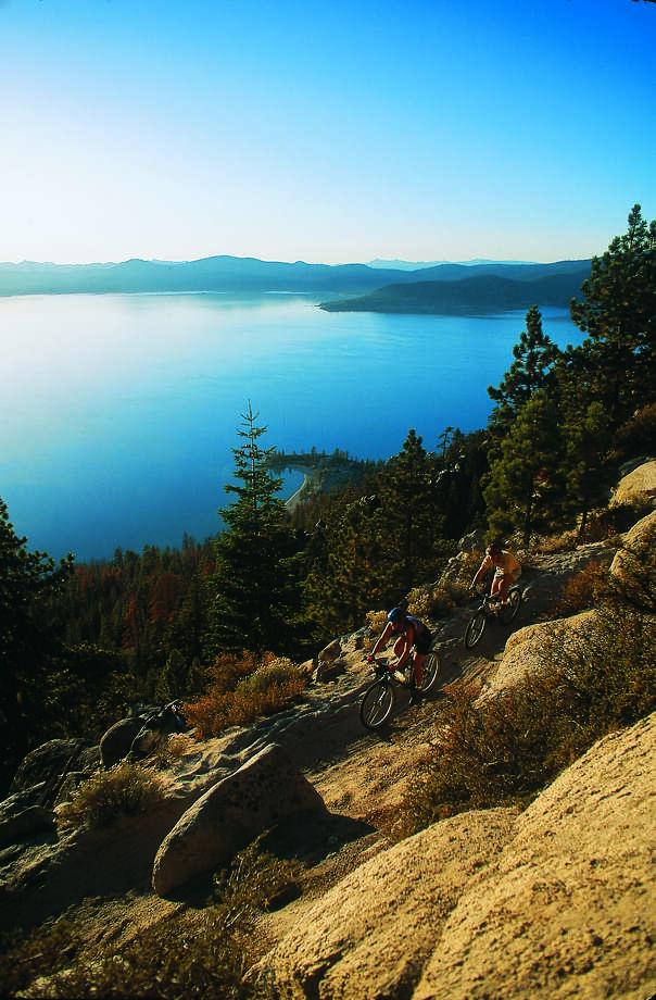 Biking the Tahoe Rim Trail. Photo: Travel Nevada