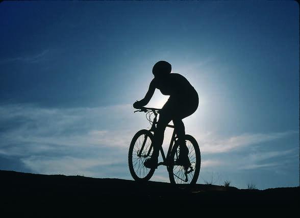 A mountain biker in Nevada.