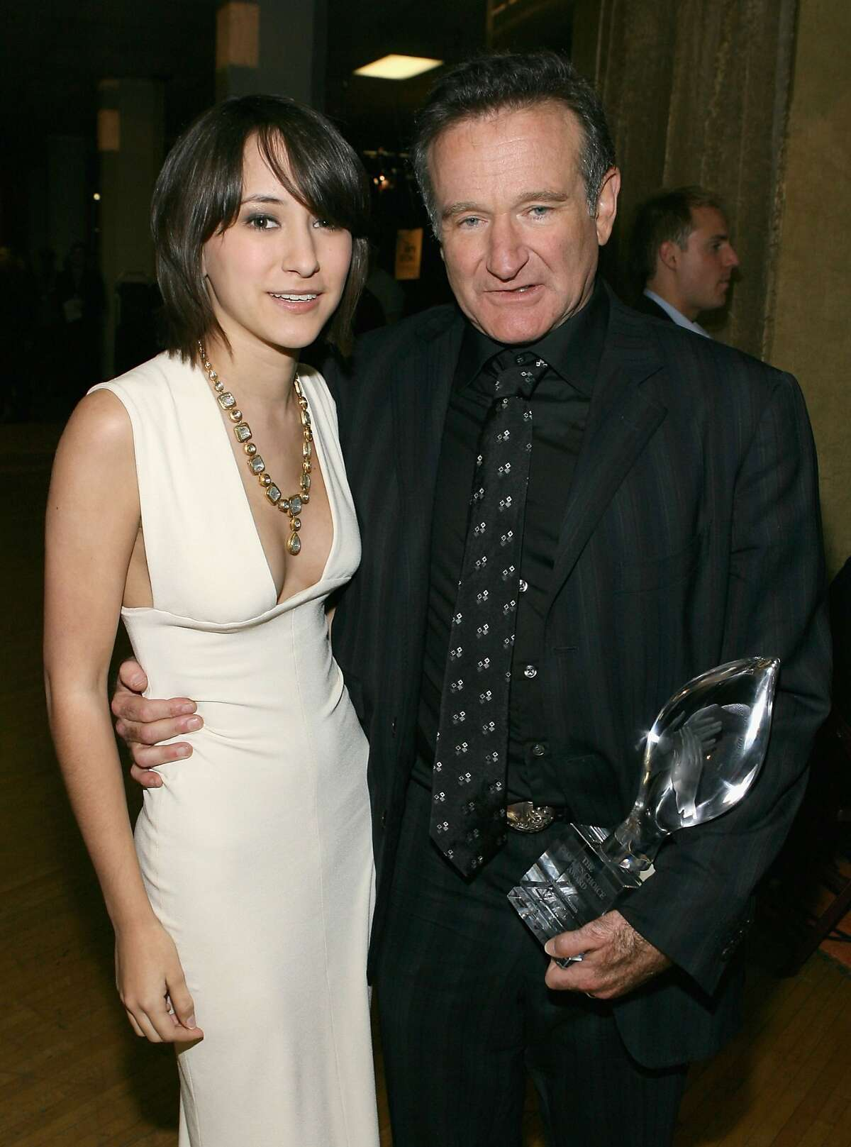 Zelda Williams and Robin Williams backstage during the 33rd Annual People's Choice Awards held at the Shrine Auditorium on January 9, 2007 in Los Angeles.