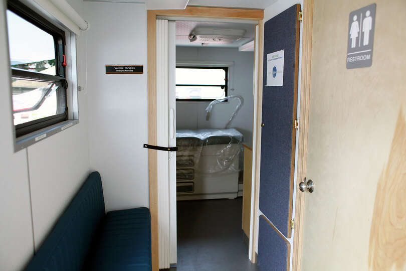 An interior view of the Whitney M. Young Jr. Health Center?s mobile unit Tuesday, Aug. 12, 2014, out
