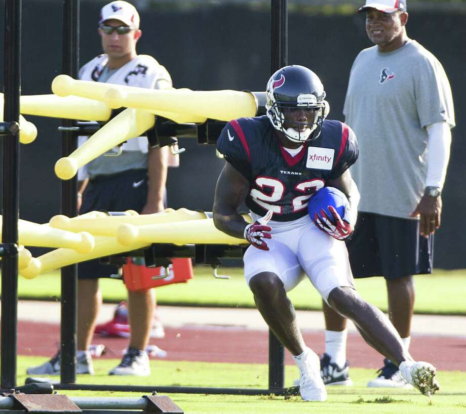 Running back Ronnie Brown works out with the Texans for the first time after playing the past two seasons with the Chargers. Photo: Brett Coomer / Houston Chronicle / © 2014 Houston Chronicle