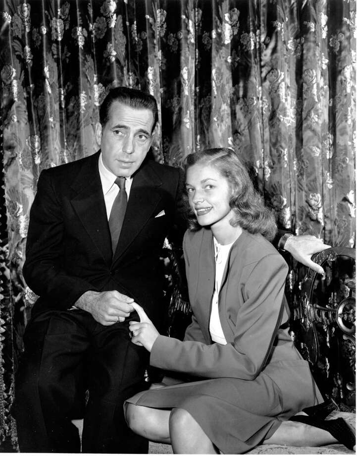 After a lengthy off-and-on romance, Humphrey Bogart married Lauren Bacall in 1945. Photo: STF / AP