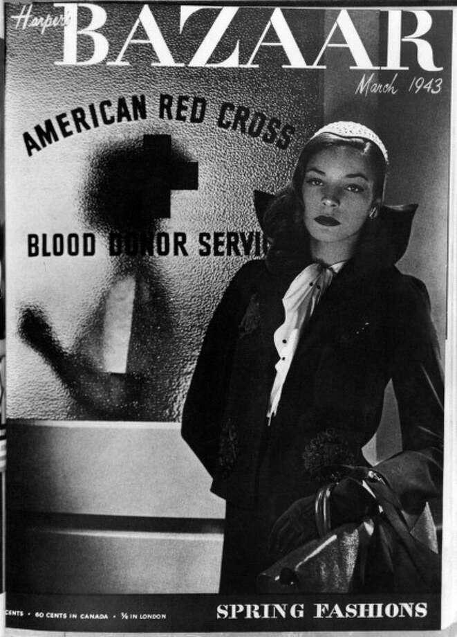 American actress Lauren Bacall (Betty Jane Perske) appearing as a model on the cover of the monthly magazine Harper's Bazaar. March 1943. (Photo by Mondadori Portfolio via Getty Images) Photo: Mondadori, Mondadori Via Getty Images / Mondadori Portfolio