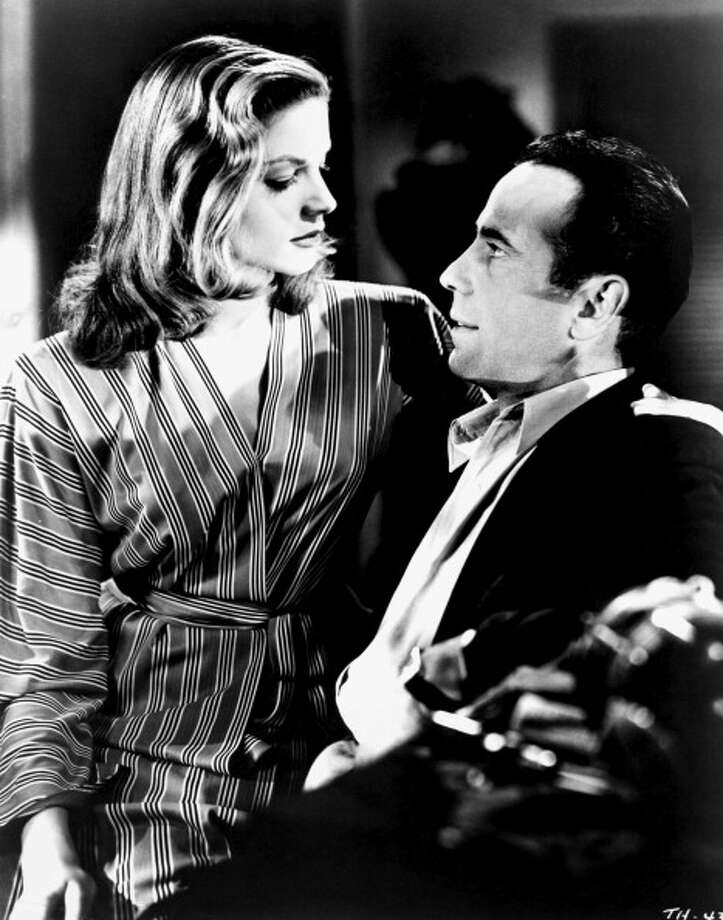 LOS ANGELES - 1944:  Actors Humphrey Bogart and Lauren Bacall pose for a studio publicity Still to promote their movie 'To Have And Have Not' in 1944 in Los Angeles, California. (Photo by Michael Ochs Archives/Getty Images) Photo: Michael Ochs Archives, Getty Images / Moviepix