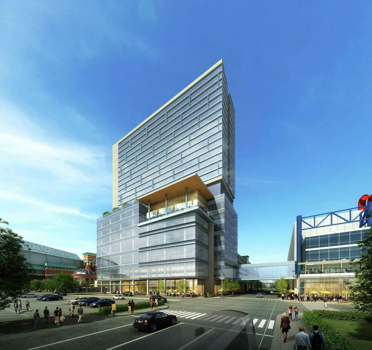 Houston First is sending out proposals to developers for a hotel that would be built on top of the recently announced Greater Houston Partnership Building and parking garage that will be north of the George R. Brown Convention Center.