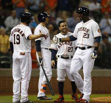 August 12: Astros 10, Twins 4  Chris Carter hit his team-leading 27th and 28th home runs of the year as the Astros evened the series with the Twins.  Record: 50-70. Photo: Karen Warren, Houston Chronicle