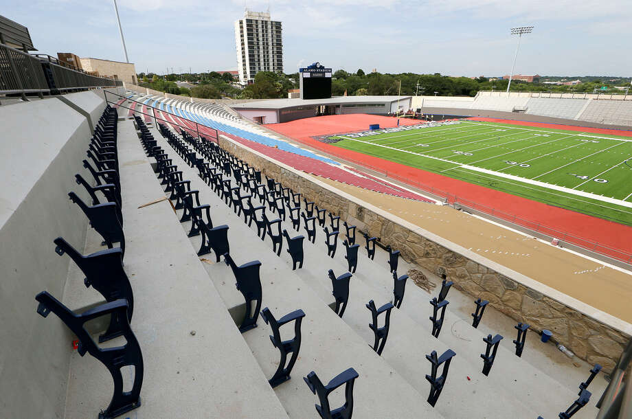 Renovations, including the installation of new seating, is nearly done at Alamo Stadium. Photo: Marvin Pfeiffer / San Antonio Express-News / EN Communities 2014