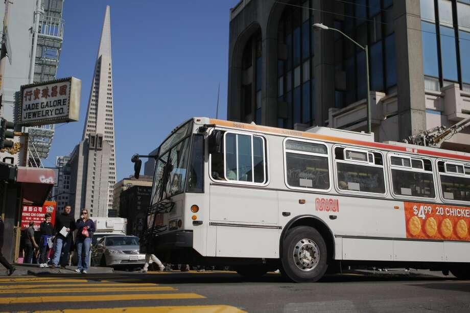 The 30 - StocktonThis route is often packed but if you get a seat you'll swing near AT&T Park, Union Square, Chinatown, North Beach, Fort Mason, the Marina, the Palace of Fine Arts, and Crissy Field. Photo: Erik Verduzco, The Chronicle