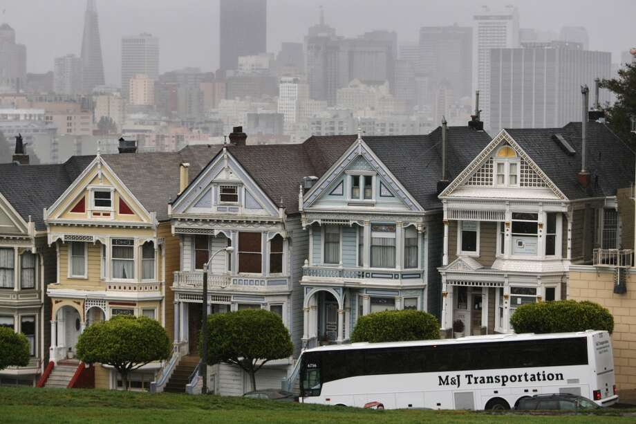 The 21 - HayesThe 21 is now the only bus that offers a view of the famed Painted Ladies after tourist buses were banned around Alamo Square. The bus heads directly up Hayes Hill and turns around at Golden Gate Park before heading back to Hayes Valley. Photo: Raphael Kluzniok, The Chronicle