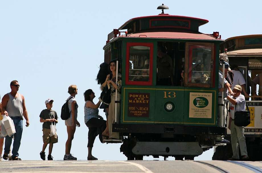The Cable CarsS.F.'s most obvious choices for perilous, hang-off-the-side views. Whichever line you end up on, you can't lose. Take all three and you'll see Fisherman's Wharf, Lombard St., Huntington Park, Union Square, and views straight down California St. Photo: Michael Macor, The Chronicle