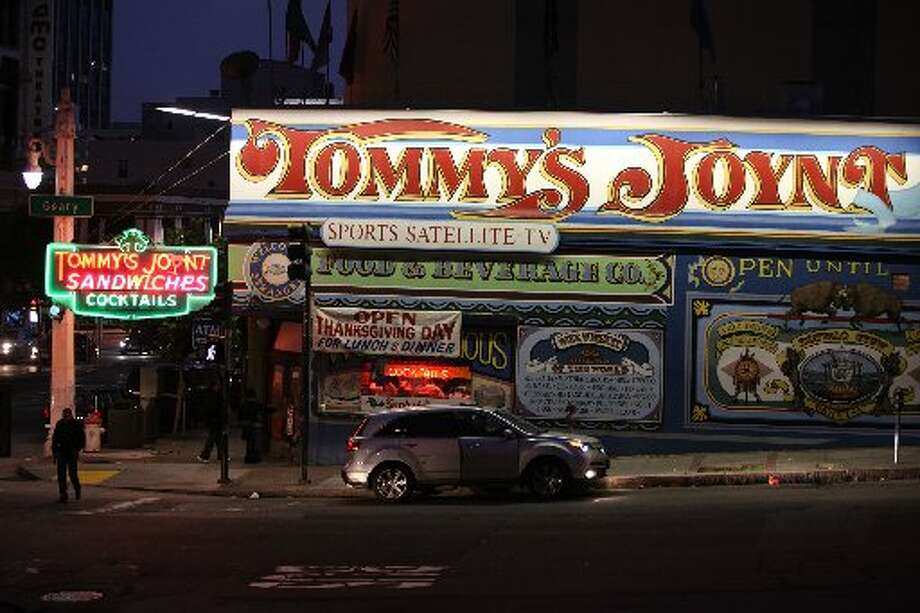 Original Tommy's Joynt, at the corner of Van Ness and Geary, is one of the most recognizable buildings in San Francisco. Photo: Liz Hafalia/The Chronicle 2011