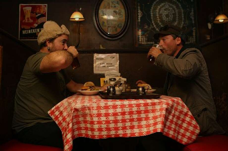 The food is always piled high on the plate. Photo: Liz Hafalia/The Chronicle 2011