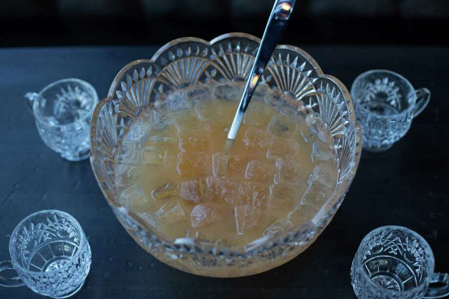 Stone's Throw, a new Montrose-area cocktail lounge, features punch cocktails served by the glass, half-bowl or bowl. Photo: Courtesy Photo
