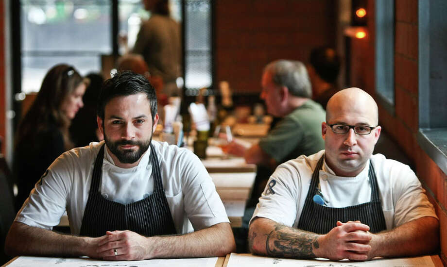 The Pass & Provisions owners chef Terrence Gallivan, left, and Chef Seth Siegel-Gardner have announced they will close their restaurants May 25. Photo: Nick De La Torre, Houston Chronicle / © 2012  Houston Chronicle