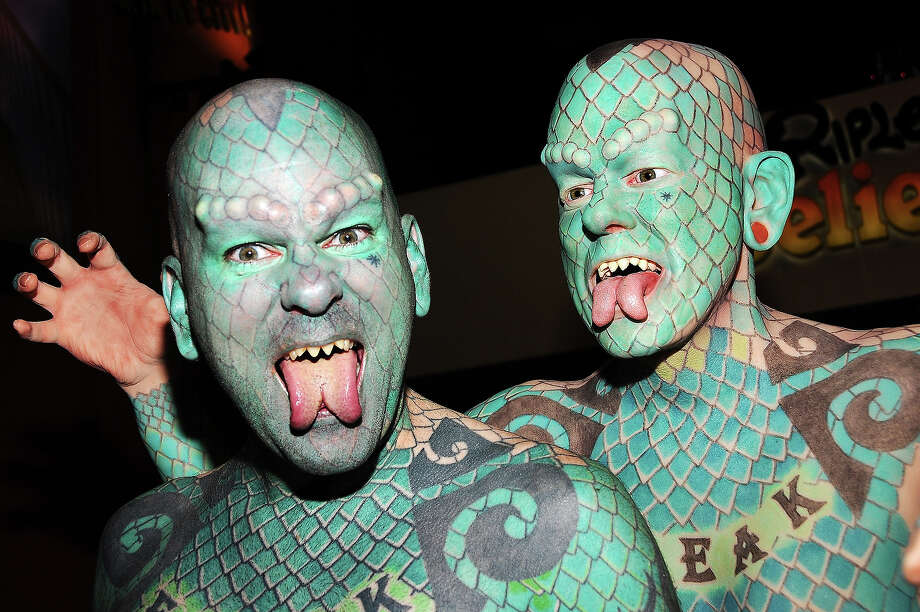 "Erik Sprague ""The Lizardman,"" New York City. Photo: Desiree Navarro, WireImage / 2011 Desiree Navarro"