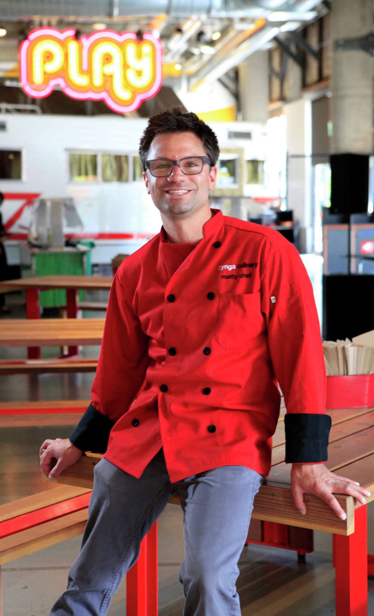 Executive chef Matthew DuTrumble, who says Zynga's games inspire the staff, believes in team building for all.