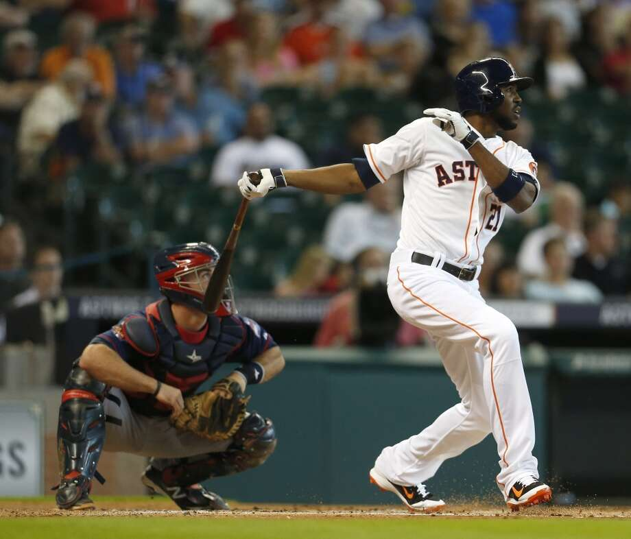 August 13: Twins 3, Astros 1  Astros center fielder Dexter Fowler had a hit in his return from the disabled list. Photo: Karen Warren, Houston Chronicle