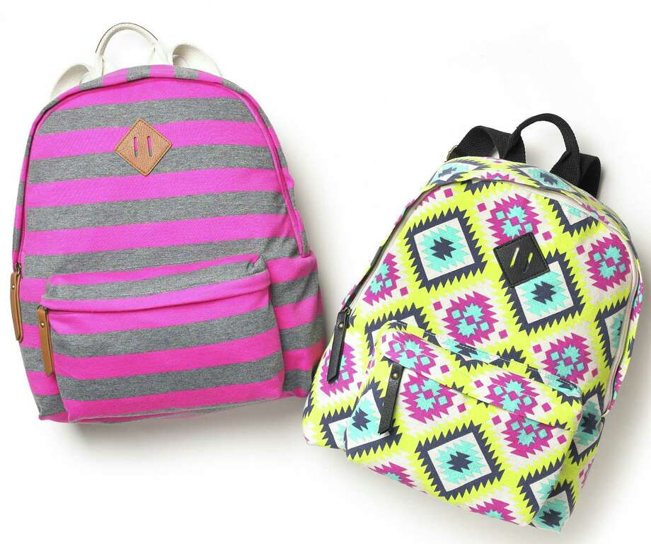 Bold patterns and colors make backpacks by Madden, $54 at Macy's, a bright idea. Photo: Macy's / San Antonio Express-News