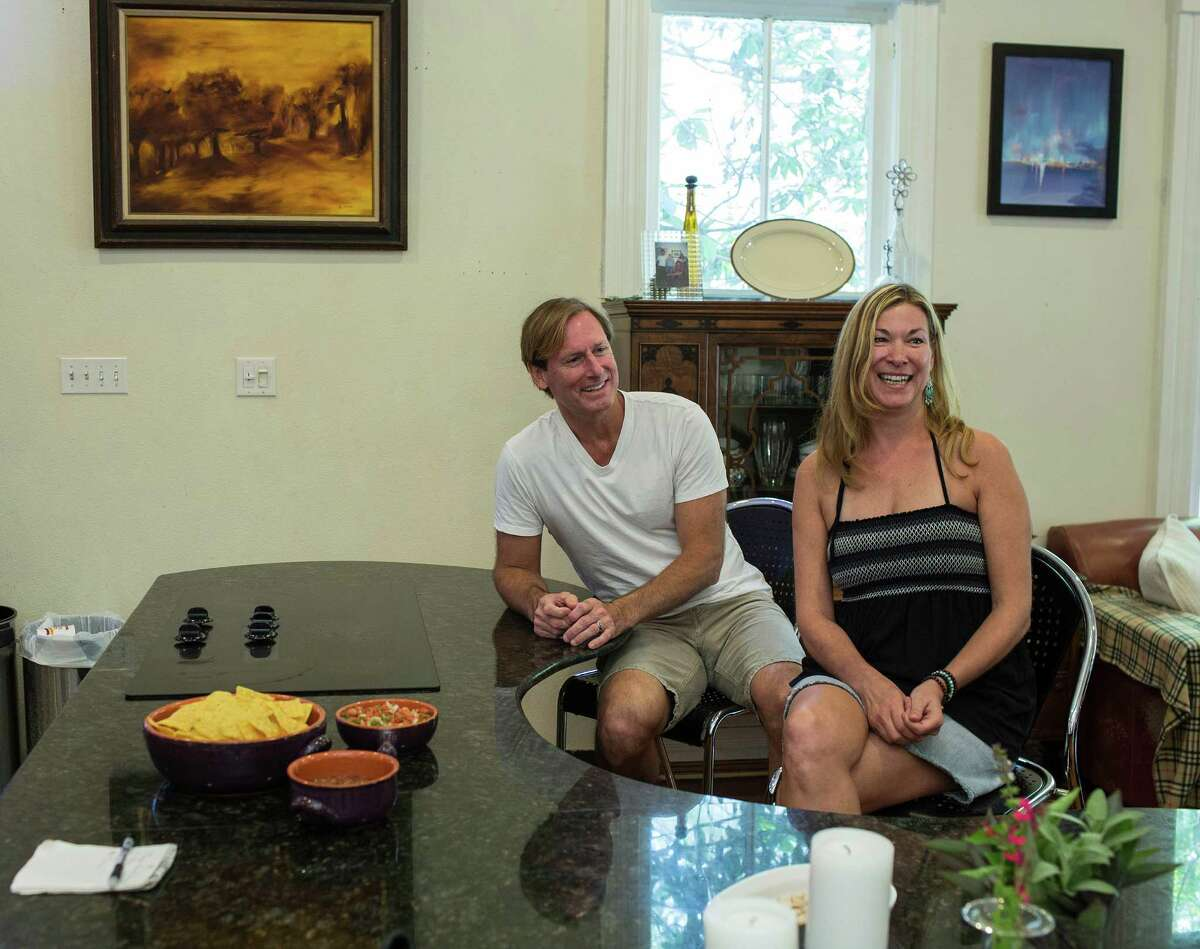 Russell and Margo Prevost, recently married, discuss their situation, each entering a second marriage, in their King William home, Sunday, August 10. 2014.