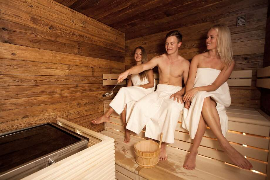 Finnair Oyj airlines knows how to treat its business-class passengers right: The sauna is among the amenities for travelers at Helsinki-Vantaa airport. Photo: Henrik Kettunen, Bloomberg