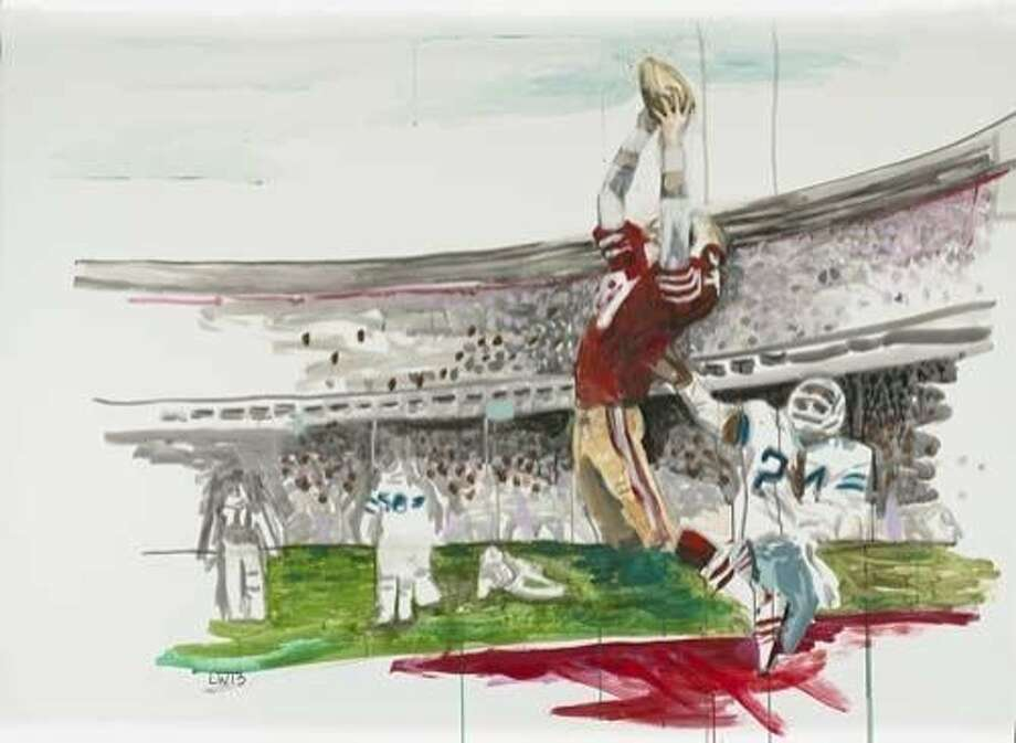 """The Catch,"" by Liz Walsh from the Art Collection at Levi's Stadium Photo: Courtesy San Francisco 49ers, Same"
