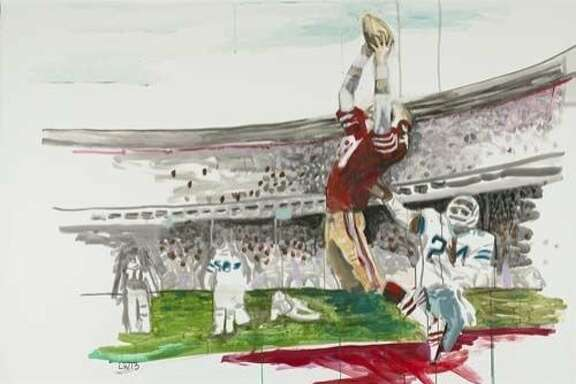 """The Catch,"" by Liz Walsh from the Art Collection at Levi's Stadium"