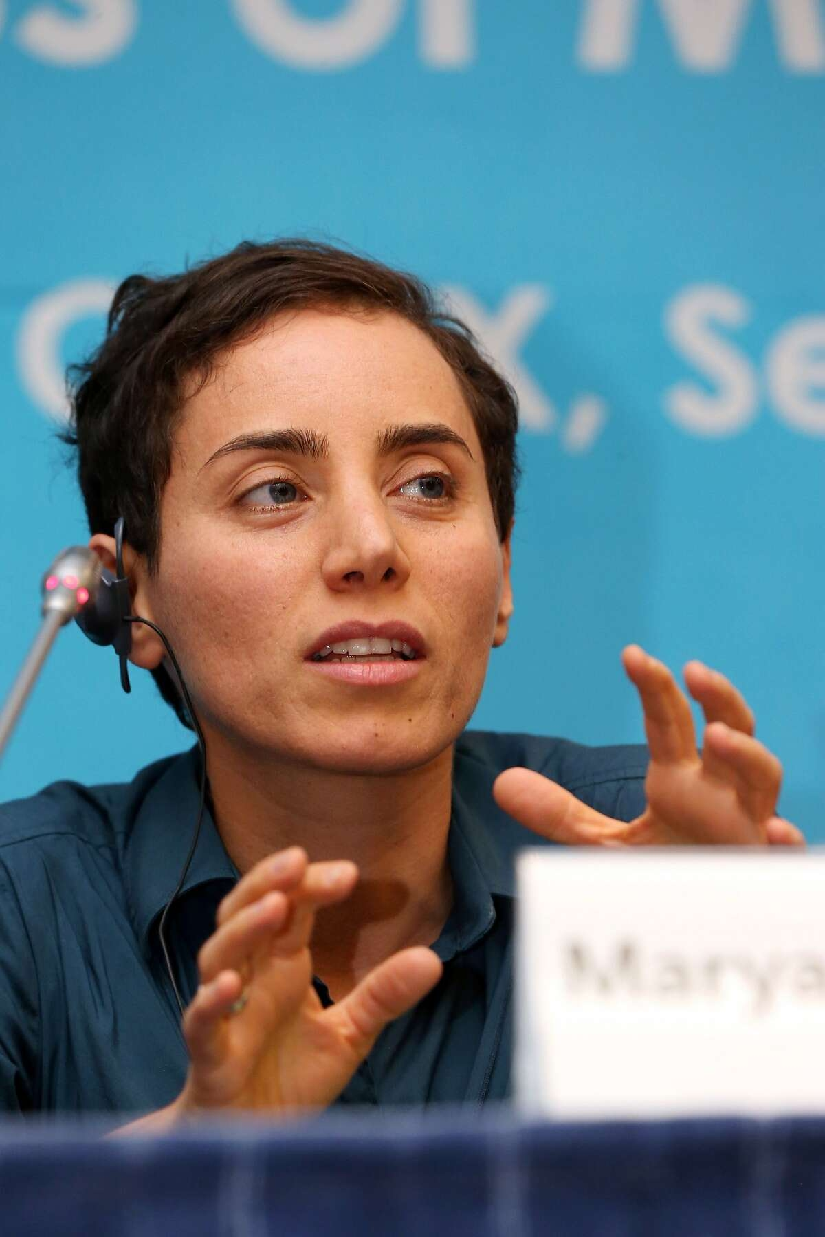 Mirzakhani was lauded for her outstanding contributions to the dynamics and geometry of Riemann surfaces and their moduli spaces.