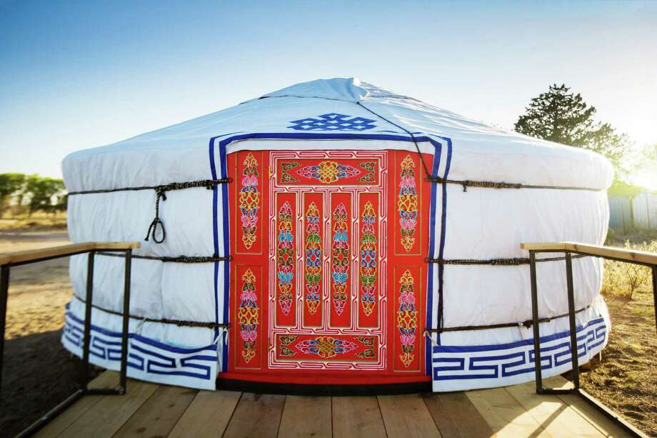>>>See our suggestions for great places to go glamping in Texas.  Mongolian yurt at El Cosmico in MarfaAverage per night: Price provided upon request.Sleeps: 2The hotel and campground also offers yurts for sale on-site and through its online store, ecprovisionco.com. Photo: Nick Simonite / El Cosmico