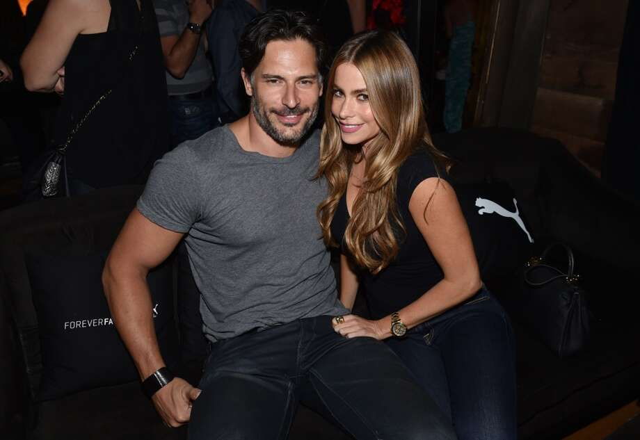 Joe Manganiello, left, and Sofia Vergara attend a private event at Hyde Staples Center during the Justin Timberlake concert hosted by PUMA celebrating the brand's new Forever Faster campaign on Tuesday, Aug. 12, 2014, in Los Angeles. Photo: John Shearer, Invision For PUMA