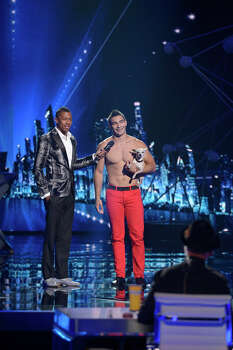 AMERICA'S GOT TALENT -- Episode 914 -- Pictured: (l-r) Nick Cannon, Christian Stoinev -- (Photo by: Virginia Sherwood/NBC) Photo: NBC, Virginia Sherwood/NBC / 2014 NBCUniversal Media, LLC.
