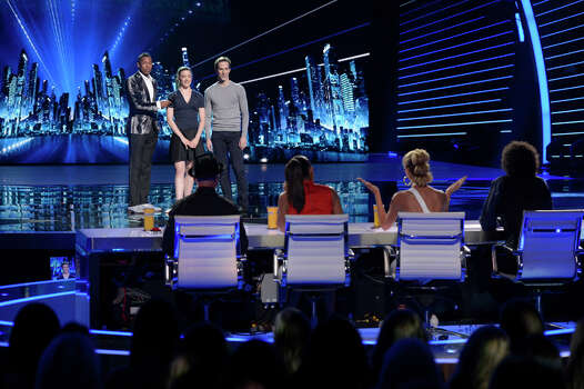 AMERICA'S GOT TALENT -- Episode 914 -- Pictured: (l-r) Nick Cannon, Blue Journey -- (Photo by: Virginia Sherwood/NBC) Photo: NBC, Virginia Sherwood/NBC / 2014 NBCUniversal Media, LLC.