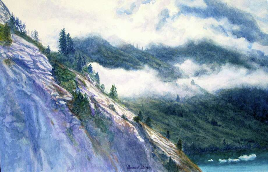 "Works by Howard Aaron, of Easton, will be featured in a show through Oct. 5 at the Fairfield Library. Above is ""Tracy Arm"" fjord in Alaska. Photo: Contributed Photo / Connecticut Post Contributed"