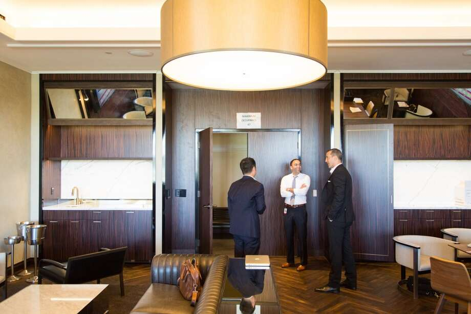 The skybox private area overlooking the restaurants. Photo: Jason Henry, Special To The Chronicle