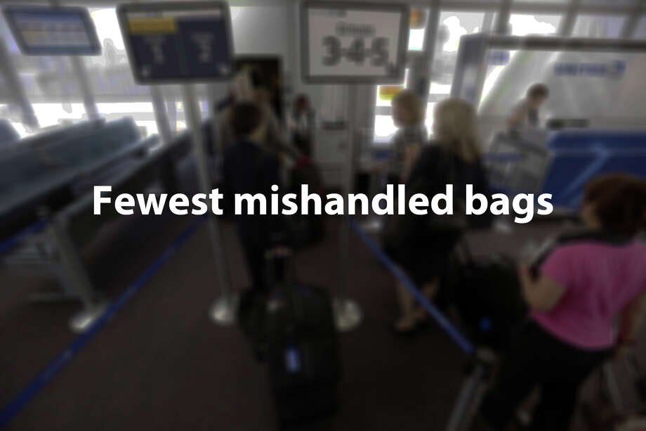 AirFareWatchDoghas compiled percentages of mishandled baggage reports for major American flight carriers. The percentages have been generated on reports per 1,000 passengers. Photo: M. Spencer Green, Associated Press