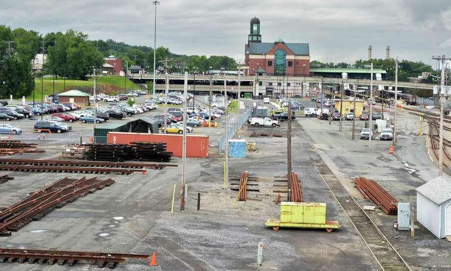 Amtrak yard and parking lots looking west Wednesday, Aug. 13, 2014, in Rensselaer, N.Y.  (John Carl D'Annibale / Times Union) Photo: John Carl D'Annibale