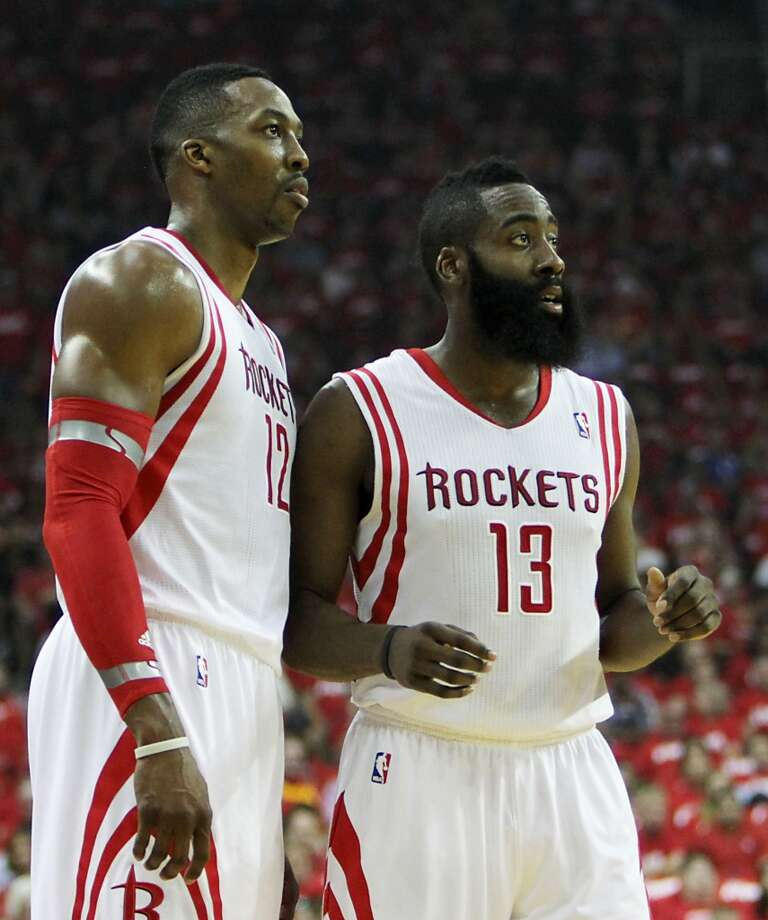 As the Rockets' dynamic duo of Dwight Howard and James Harden enter their second season together, check out some of the must-see matchups from the 2014-15 season. Photo: James Nielsen, Houston Chronicle