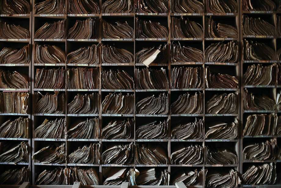 Files pile up at a police station  in Bangui, Central African Republic,  Wednesday June 4, 2014.  (AP Photo/Jerome Delay) Photo: Jerome Delay, Associated Press