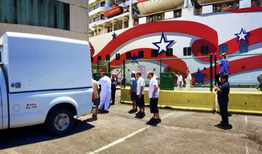 Norwegian Cruise Line's Pride of America, which sails weekly itineraries throughout the Hawaiian Islands, donated water and food to the Puna relief effort this week, coordinated by its local partner KapohoKine Adventures. Photo: KapohoKine Adventures