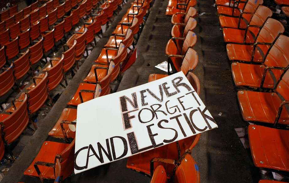 REMEMBER YOUR HISTORY: It's ridiculous to get too nostalgic about Candlestick Park, considering all the time we spent bitching about it. But there are a few things from the old park that we'd like to see at Levi's Stadium ... Photo: Michael Short, The Chronicle