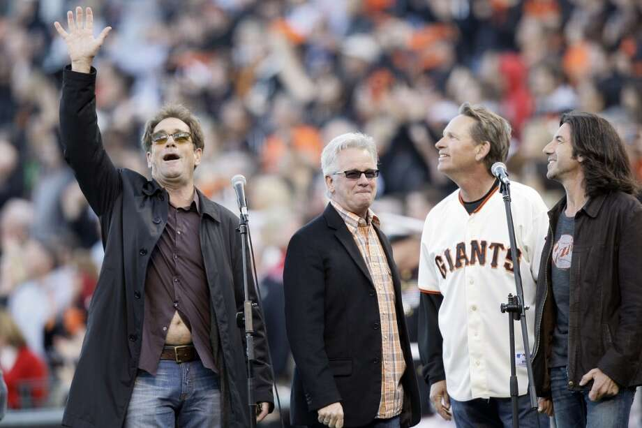 3. HUEY LEWIS AND THE NEWS NATIONAL ANTHEM: We'll also take Santana lead singer Gregg Rolie, the San Francisco Gay Men's Chorus and any 11-year-old girl with a good set of lungs. Keep our anthem singers local. Photo: Jeff Chiu, AP