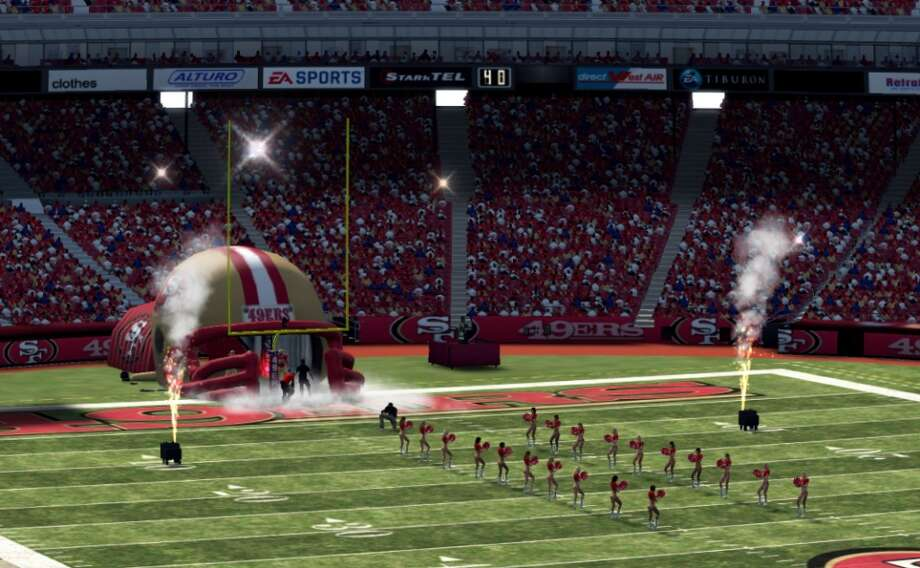 6. THAT GIANT INFLATABLE FOOTBALL HELMET THEY USE FOR PLAYER INTRODUCTIONS: We won five super bowls with the inflatable helmet. Sure, it sometimes collapses on the players. But don't mess with the tradition. (Copping to the fact that this photo is from Madden NFL.) Photo: Courtesy EA Sports