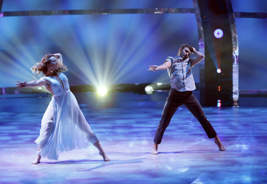 "SO YOU THINK YOU CAN DANCE: Top 8 contestant Ricky Ubeda (R) and all-star Jaimie Goodwin perform a Contemporary routine to ""Smile"" choreographed by Travis Wall on SO YOU THINK YOU CAN DANCE airing Wednesday, August 13 (8:00-10:00 PM ET/PT) on FOX. ©2014 FOX Broadcasting Co. Cr: Adam Rose / 1"