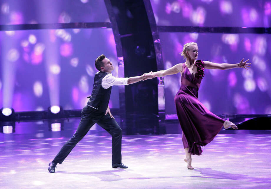 """SO YOU THINK YOU CAN DANCE: Top 8 contestant Tanisha Belnap (R) and all-star Nick Lazzarini perform a Contemporary routine to """"She's Out Of My Life"""" choreographed by Stacey Tookey on SO YOU THINK YOU CAN DANCE airing Wednesday, August 13 (8:00-10:00 PM ET/PT) on FOX. ©2014 FOX Broadcasting Co. Cr: Adam Rose / 1"""