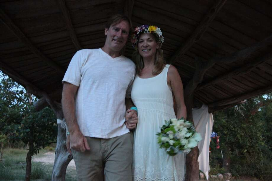 Russell and Margo Prevost's wedding on June 7 during  the Kerrville Folk Festival. Photo: Leigh Christian, Courtesy Photo