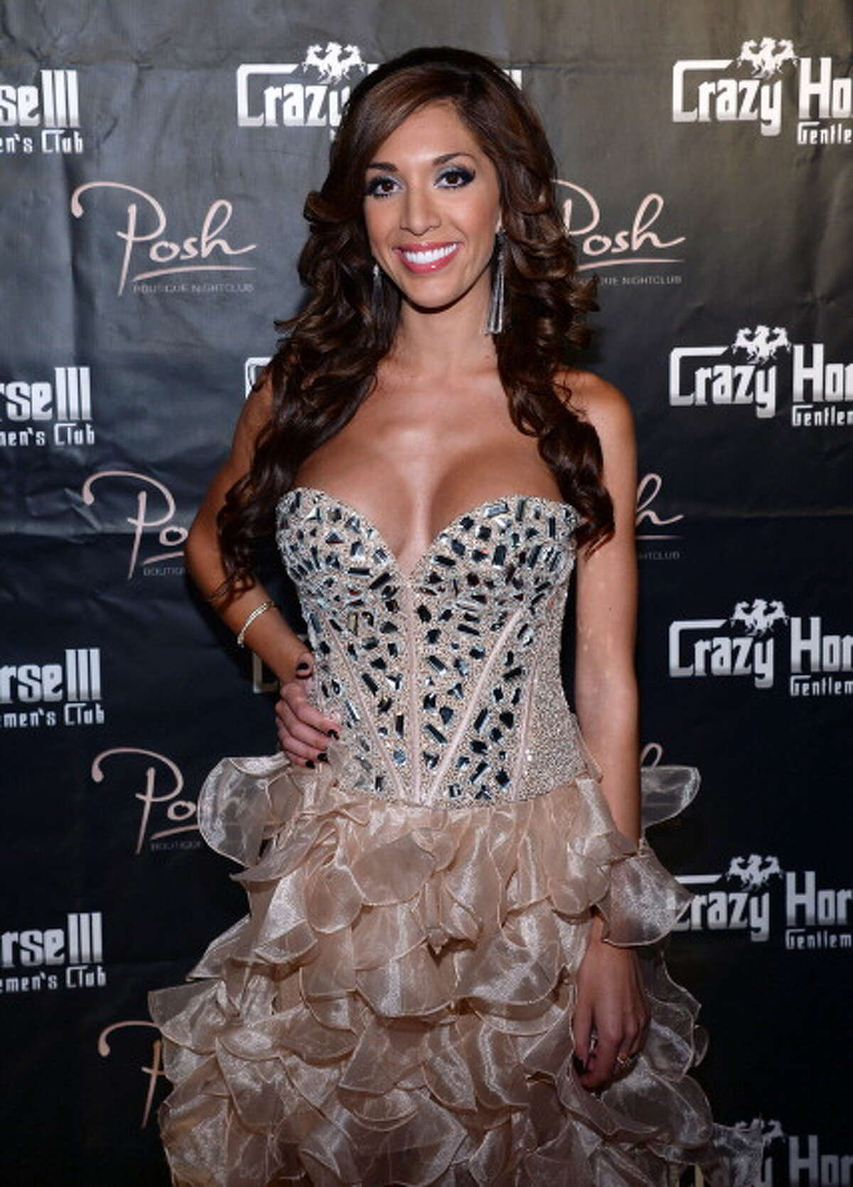 LAS VEGAS, NV - AUGUST 20: Television personality Farrah Abraham arrives at the Crazy Horse III Gentlemen's Club to host the 2013 Gentlemen's Club EXPO & Tradeshow kick off party on August 20, 2013 in Las Vegas, Nevada.