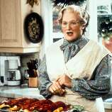 "Robin Williams in ""Mrs. Doubtfire."""
