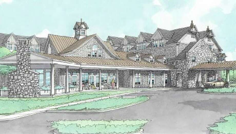 An artist's rendering of a proposed senior housing community near Mill Hill Elementary School. Photo: Contributed Photo /  Fairfield Citizen contributed