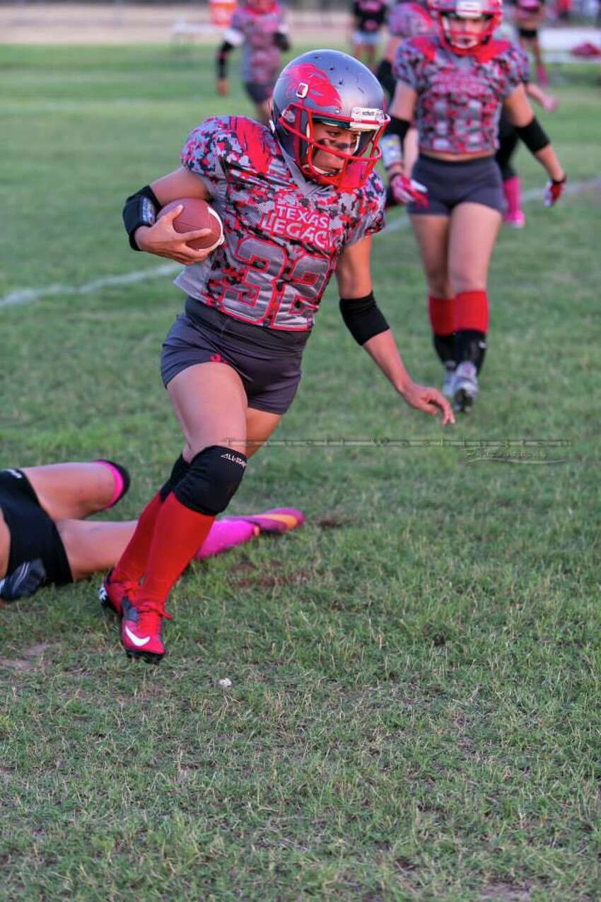 The San Antonio Texas Legacy, the city's all-female tackle football team, take on the Rio Grande Valley Cheetahs in a semifinal Saturday at Legacy Stadium. Texas Legacy won 52-6, and now they are on their way to play in the championship game Aug. 23.