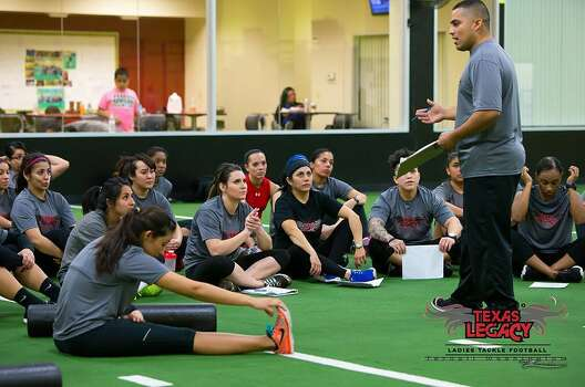 The tough ladies of the San Antonio Texas Legacy, the city's all-female tackle football team, gear up for the new season in these photos from boot camp and training sessions. Photo: Ternell Washington, San Antonio Texas Legacy