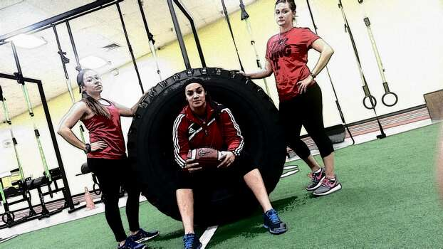 The tough ladies of the San Antonio Texas Legacy, the city's all-female tackle football team, gear up for the new season in these photos from boot camp and training sessions. Photo: San Antonio Texas Legacy